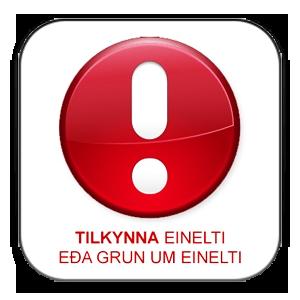 Tilkynna um einelti eða grun um einelti